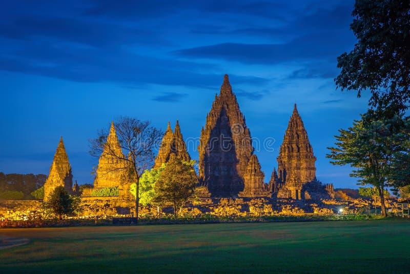 Templo hindú Prambanan indonesia foto de archivo libre de regalías