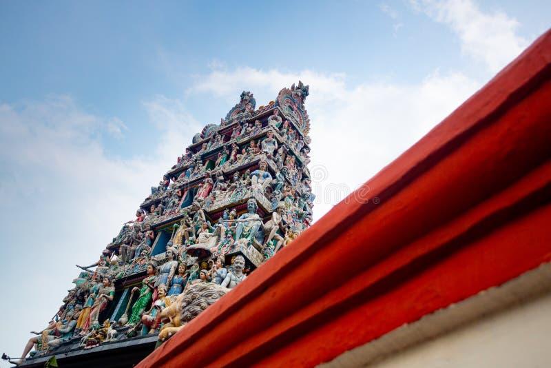 Templo hind? de Singapur fotografía de archivo libre de regalías