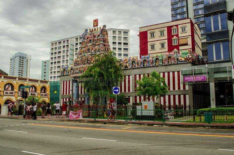 Templo hind? en Singapur fotos de archivo libres de regalías