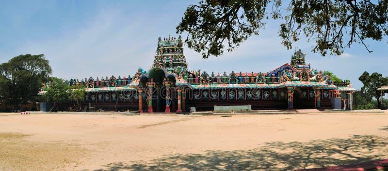 Templo hindu da ilha de Tamilian, Sri Lanka imagens de stock