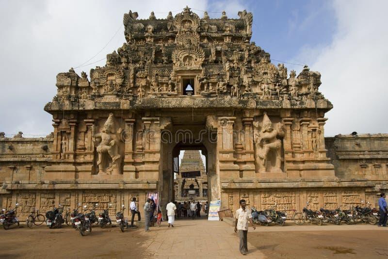 Templo Hindu de Brihadishvera - Thanjavur - India foto de stock