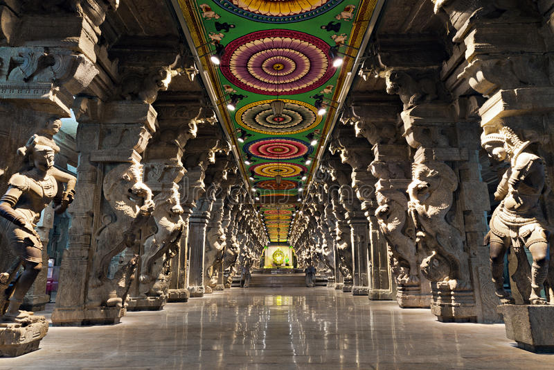 Templo hindu de Meenakshi imagem de stock