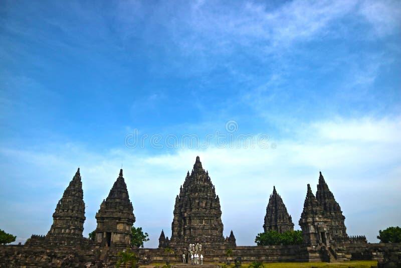 Templo hindu de Prambanan, Bokoharjo, reg?ncia de Sleman, regi?o especial de Yogyakarta, Indon?sia imagens de stock royalty free
