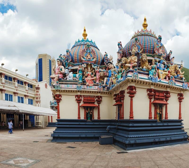 Templo hindu de Sri Mariamman no bairro chinês, Singapura fotos de stock