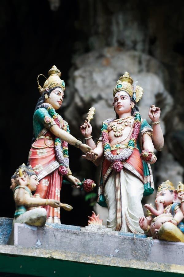 Templo Hindu em cavernas de Batu imagem de stock