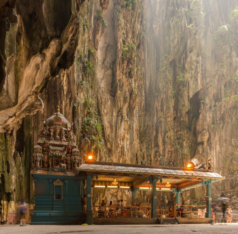 Templo Hindu em cavernas de Batu imagem de stock royalty free
