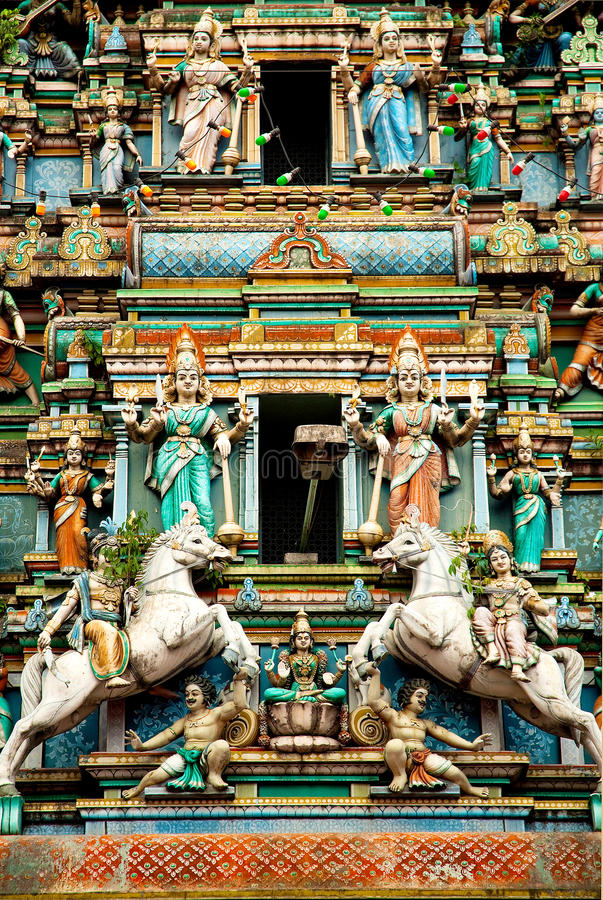 Templo Hindu em Kuala Lumpur malaysia imagens de stock