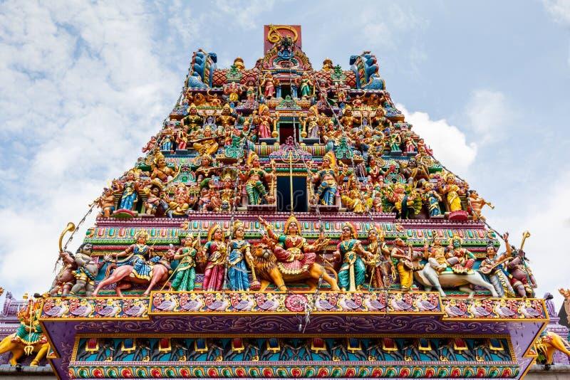 Templo hindu em pouca Índia, Singapura imagens de stock