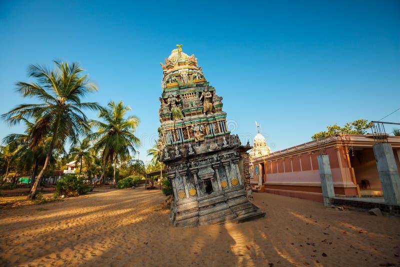 Templo hindu em Sri Lanka após o tsunami fotografia de stock