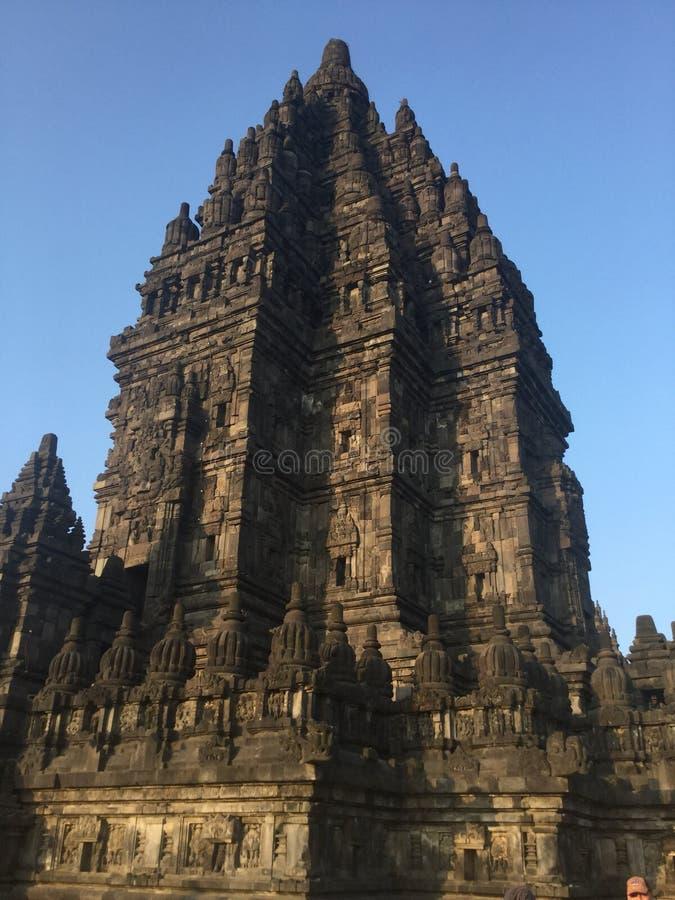 Templo Hindu indonésia Prambanan fotos de stock