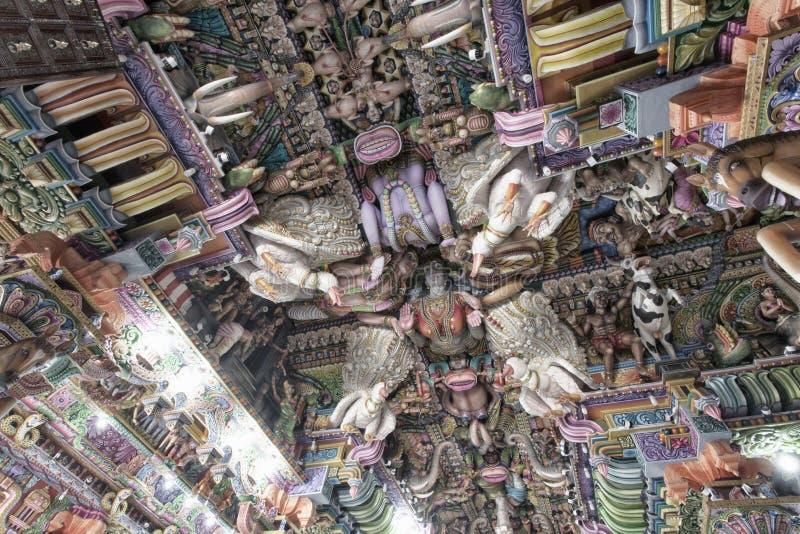 Templo hindu interno do kali em Trincomalee fotos de stock royalty free