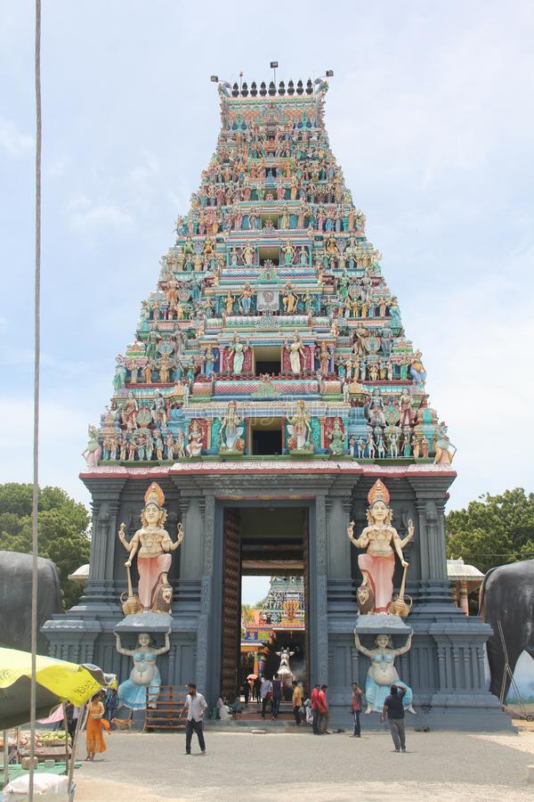Templo hindu Sri Lanka de Nagadeepaya imagens de stock royalty free