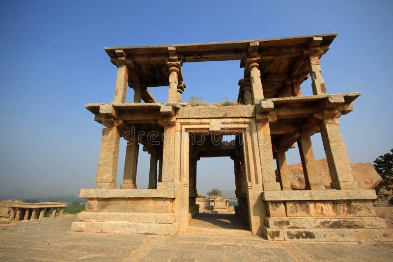Templo histórico de Hampi Vittala en la India imágenes de archivo libres de regalías