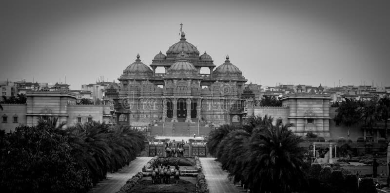 Templo indiano - Akshardham fotografia de stock