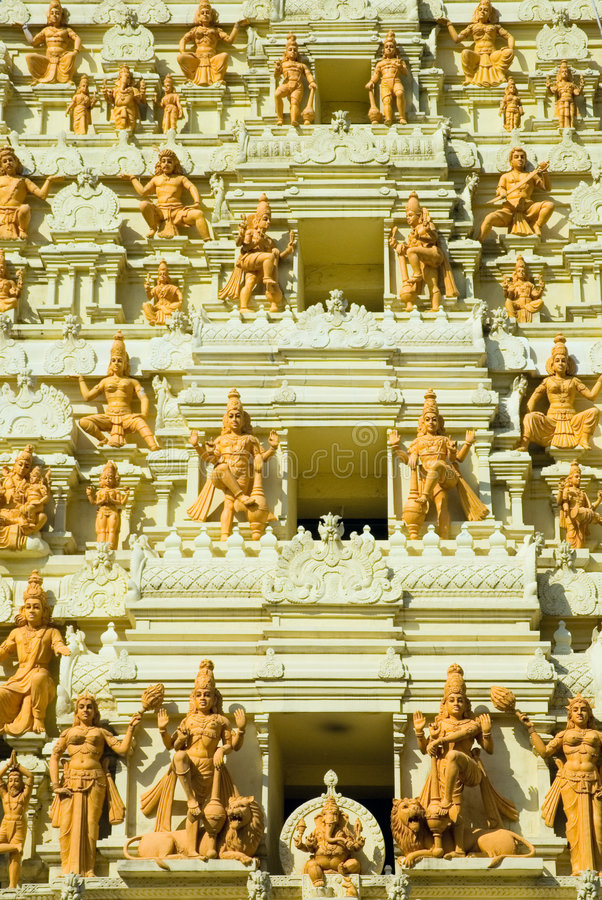 Templo indiano, singapore foto de stock royalty free