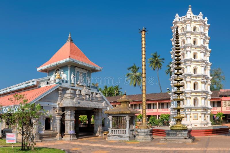Templo indio en Ponda, GOA, la India fotografía de archivo libre de regalías