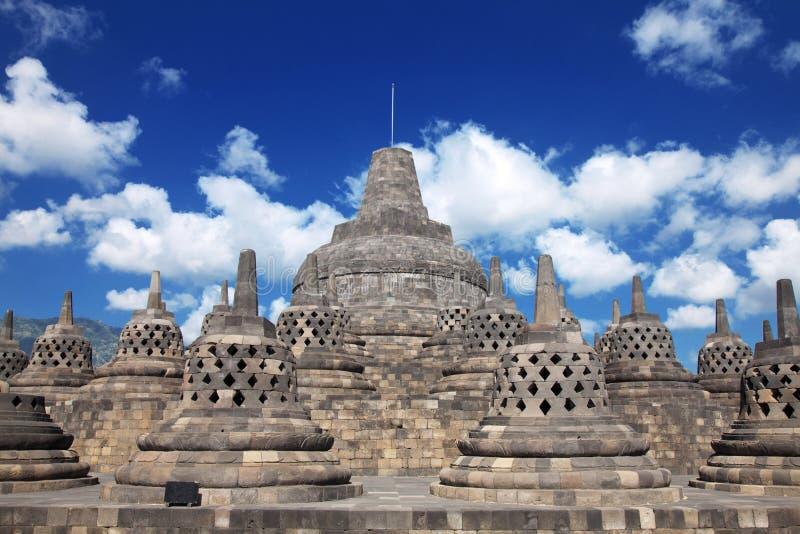 Templo Indonésia de Borobudur fotografia de stock royalty free