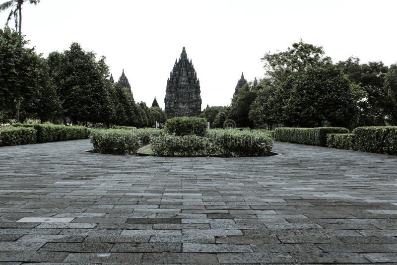 Templo Indonesia de Prambanan fotos de archivo libres de regalías