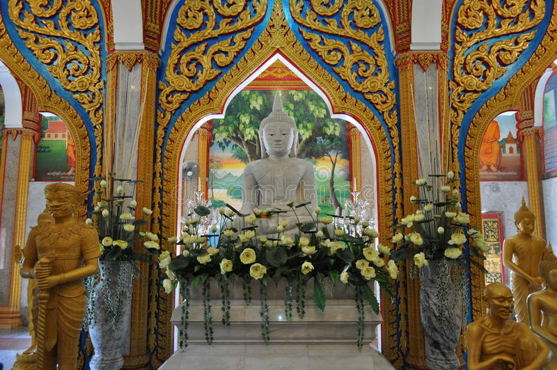 Templo interno Phuket Tailândia de Chalong foto de stock royalty free