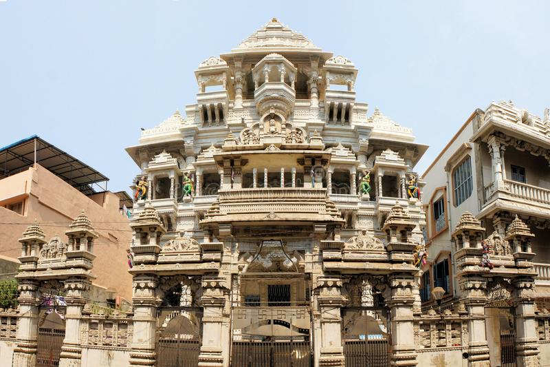 Templo Jain en Chennai, la India foto de archivo