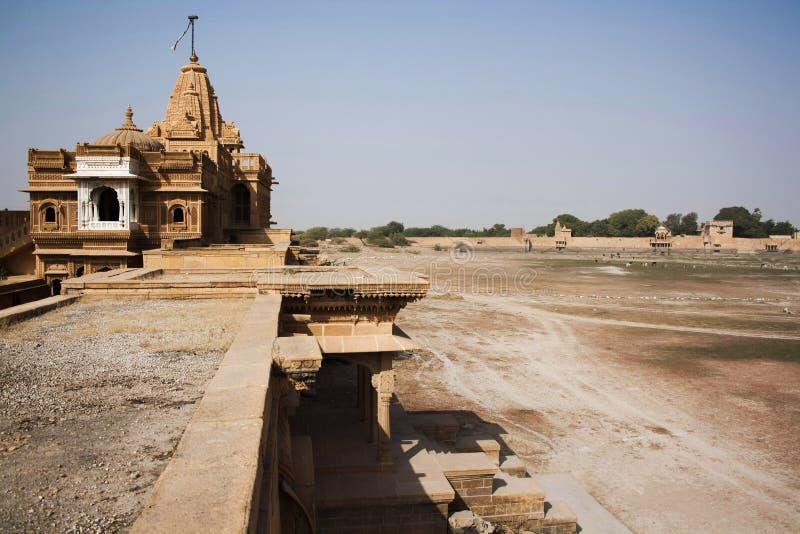 Templo Jain, Jaisalmer, Rajasthán, la India fotografía de archivo libre de regalías