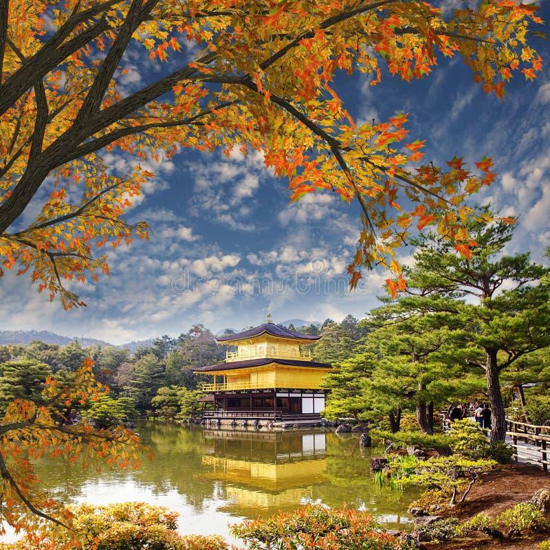 Templo japão do ouro foto de stock royalty free