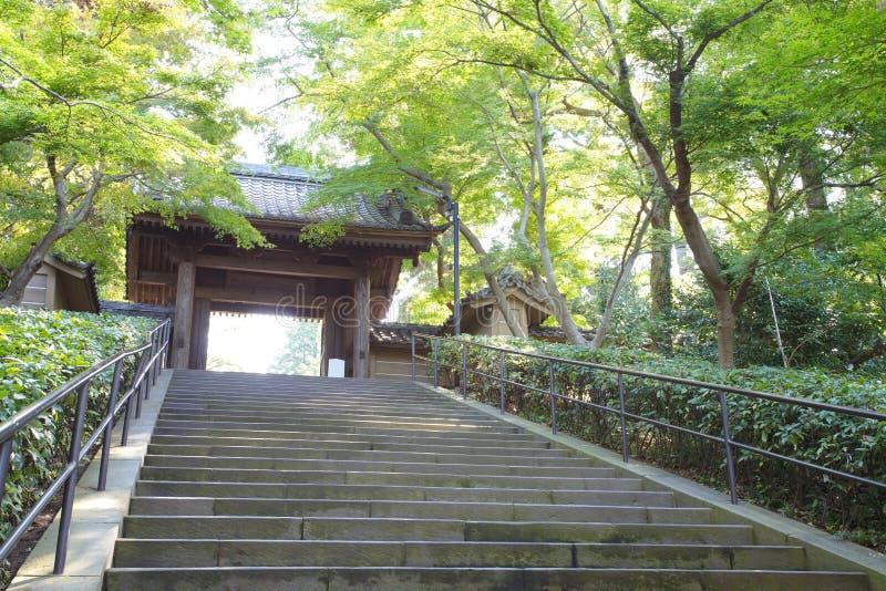 Templo japonés, templo del ji de Engaku fotos de archivo