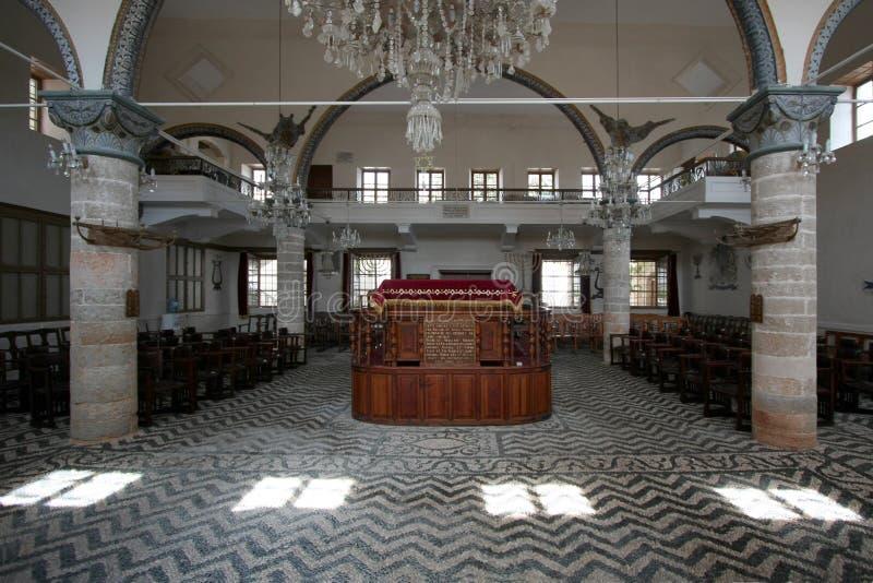 Templo judío interior fotos de archivo libres de regalías