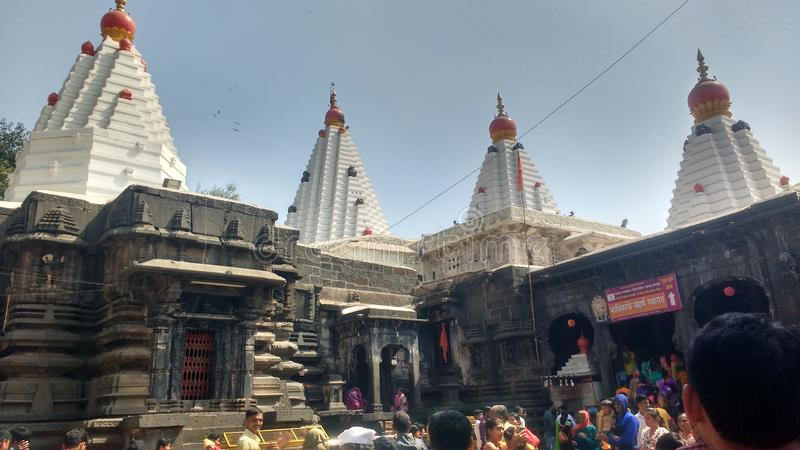 Templo, Kolhapur, y x28 de Mahalakshmi; Mandir& x29 de Shree Ambabai; fotos de archivo libres de regalías