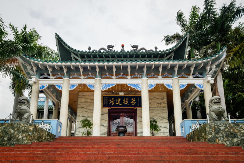 Templo largo de Hua en la ciudad de Davao - Filipinas fotos de archivo