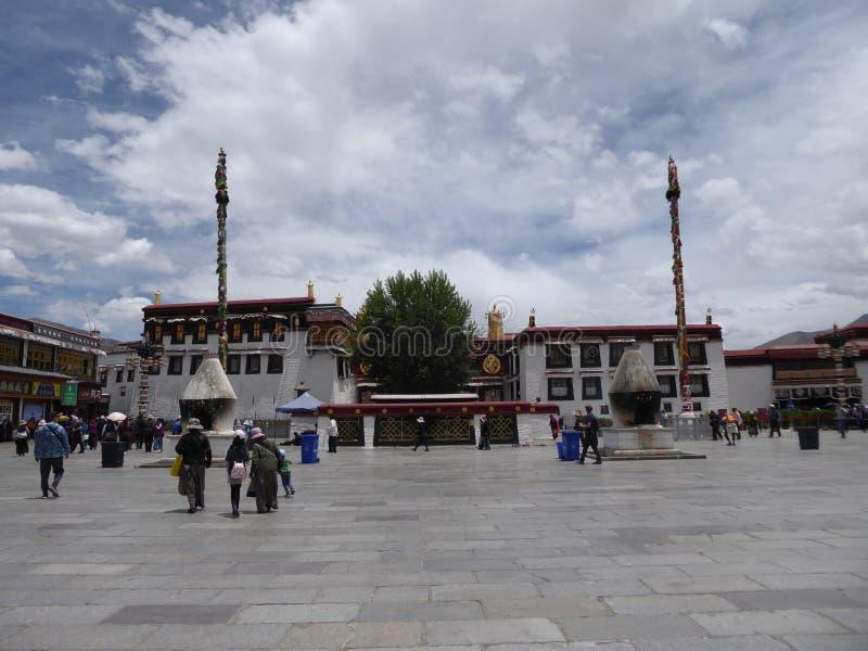 Templo Lhasa Tibet de Jokhang foto de stock