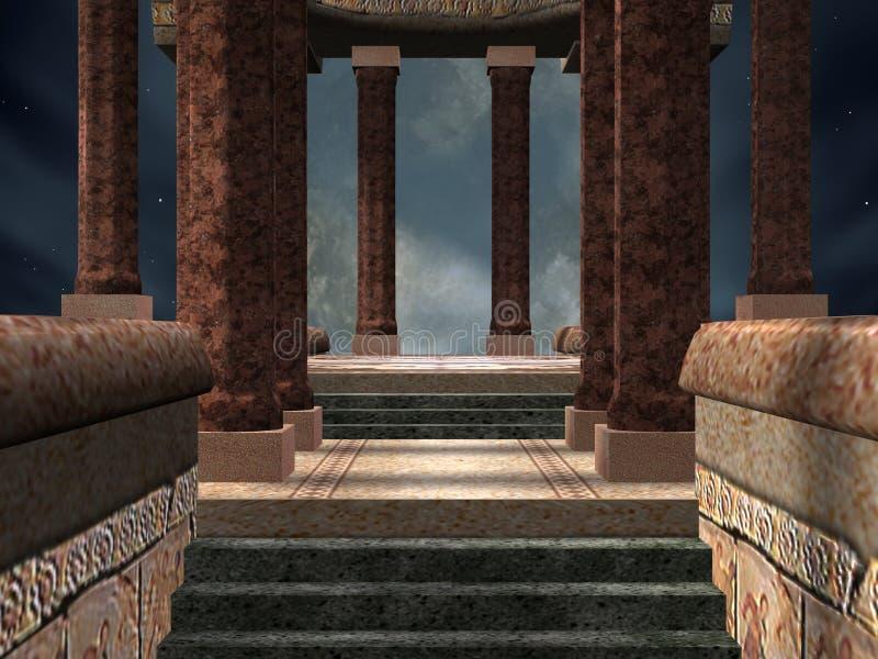 Templo místico ilustración del vector