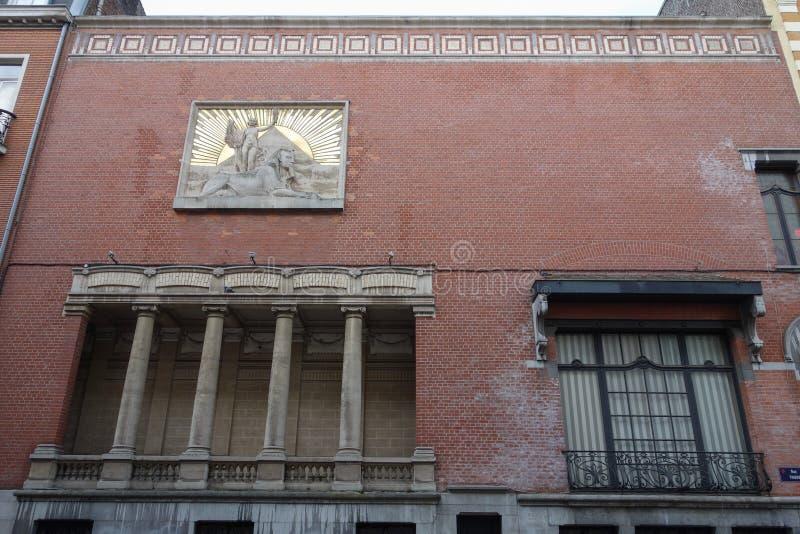 Templo maçônico em Lille fotografia de stock royalty free