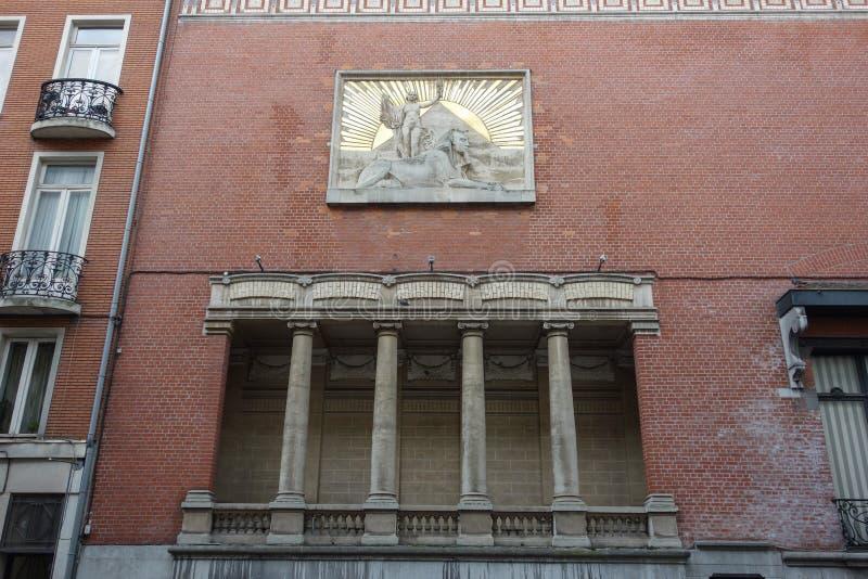 Templo maçônico em Lille imagem de stock royalty free