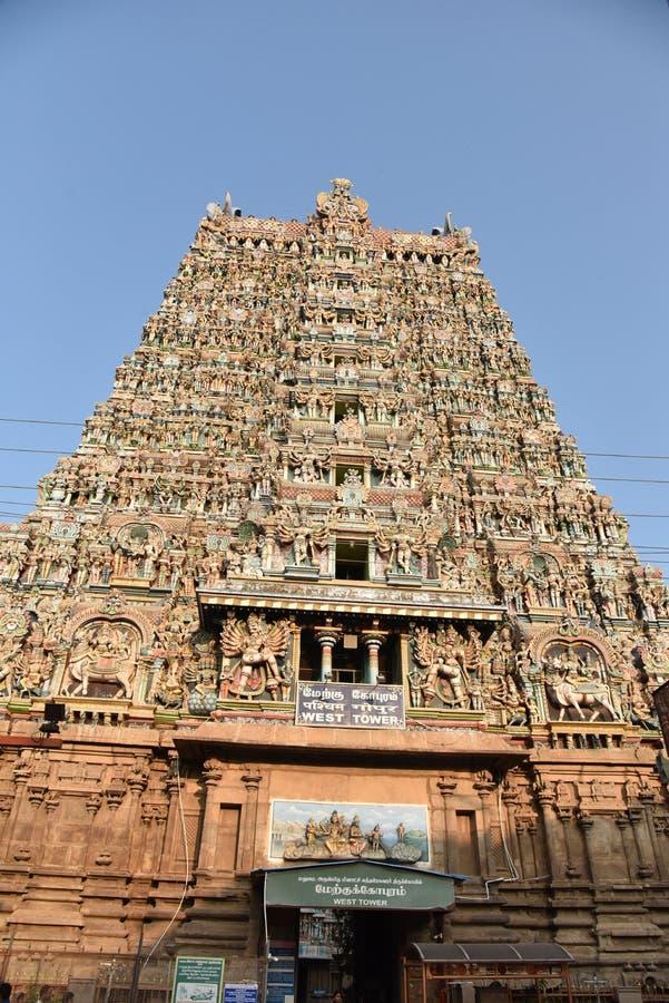 Templo Madurai de Meenakshi Amman imágenes de archivo libres de regalías