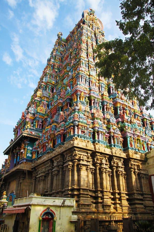 Templo Madurai de Meenakshi Amman fotografía de archivo