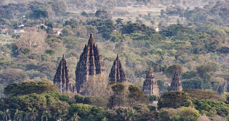 Templo magnífico de Prambanan fotos de archivo