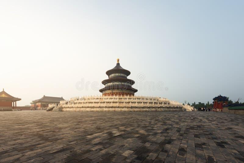 Templo maravilhoso e surpreendente do Pequim - Templo do Céu em Beiji fotografia de stock royalty free
