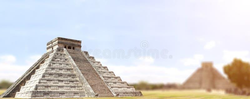 Templo maya antiguo de Kukulcan de la pirámide, Chichen Itza, Yucatán, imagenes de archivo
