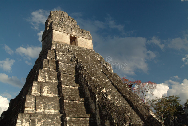 Templo maya en Tikal, Guatemala fotografía de archivo libre de regalías