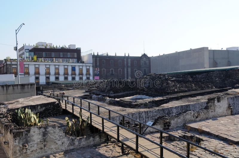 Download Templo Mayor, Mexico city stock image. Image of templo - 33179205