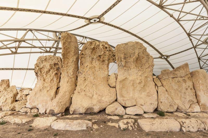 Templo megalítico de Hagar Qim em Malta fotos de stock royalty free