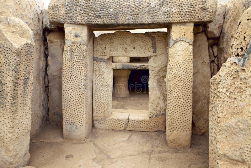 Templo megalítico, Malta imagem de stock