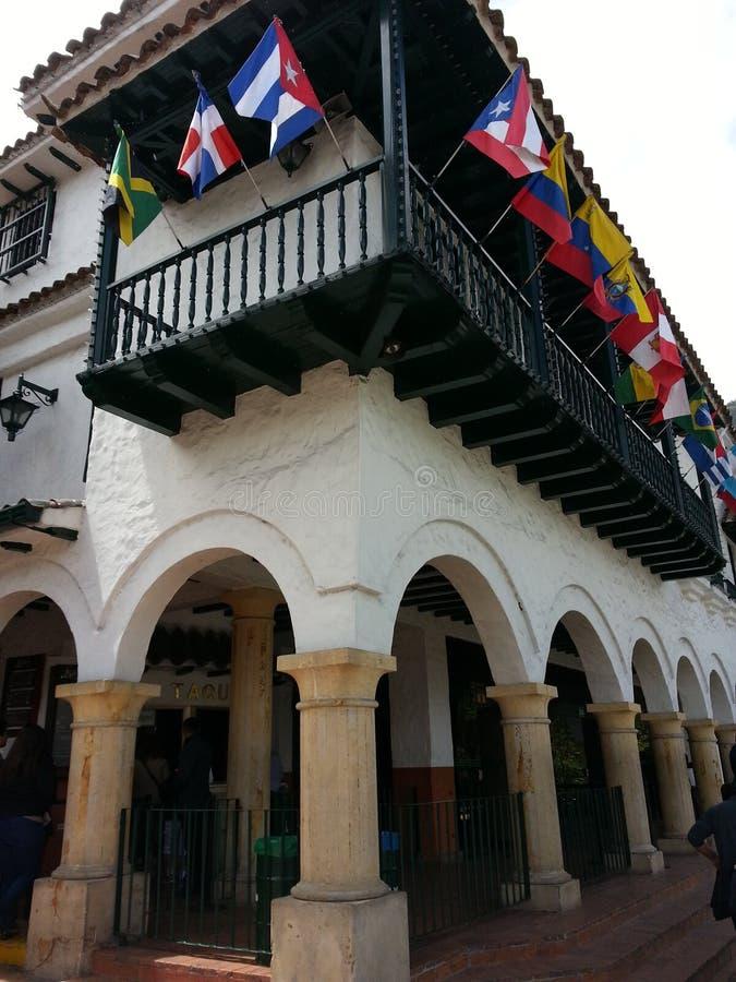 Templo Monserrate Kolumbia obraz stock