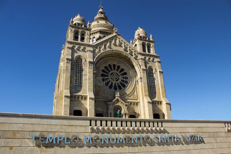 Templo Monumento Santa Luzia stock afbeeldingen