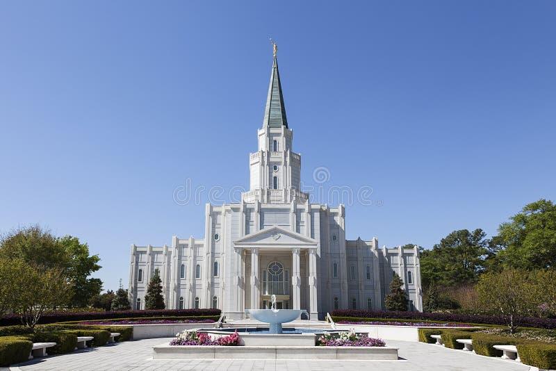 El templo de Houston Tejas en Houston, Tejas foto de archivo
