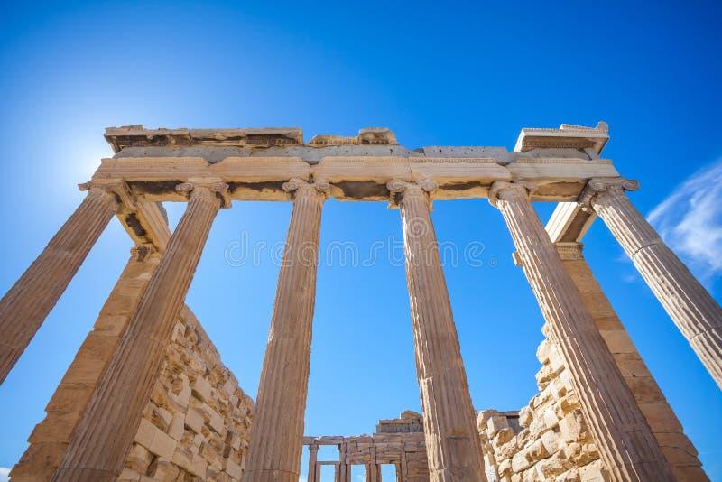 Templo na acrópole, Atenas de Erechtheion, Grécia imagem de stock royalty free