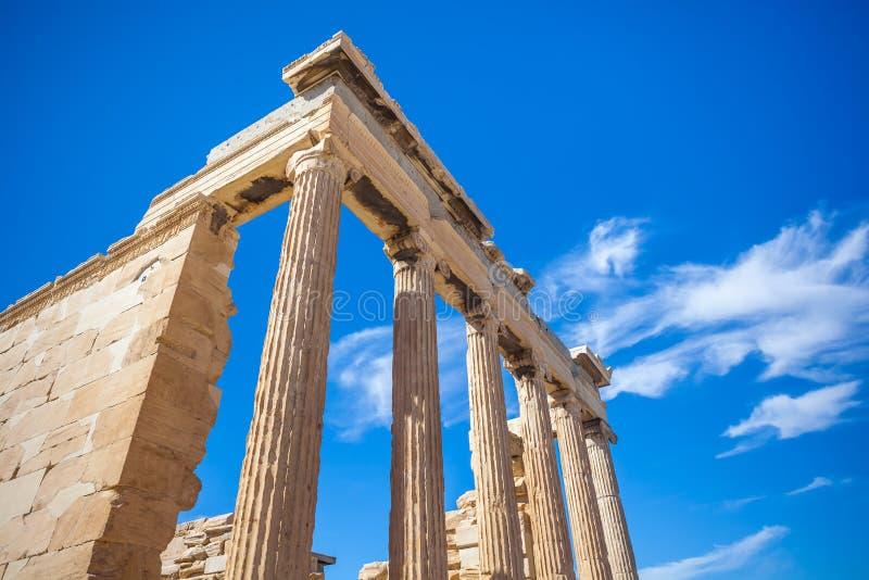 Templo na acrópole, Atenas de Erechtheion, Grécia fotografia de stock