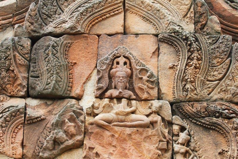 Templo na beira cambojana. imagens de stock royalty free