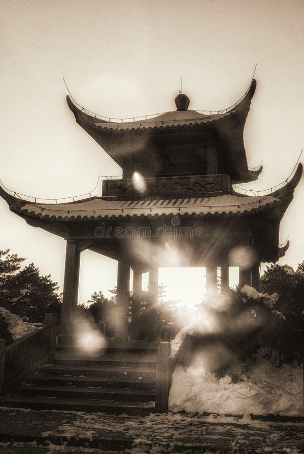 Templo na montagem Huangshan fotos de stock royalty free